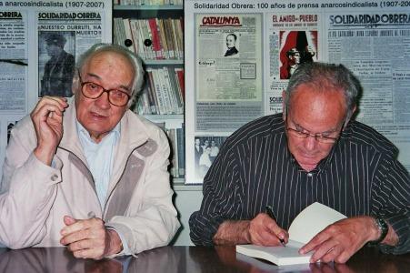Con Joan Busquets, en la presentación de su libro