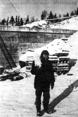 Íbero Galo trabajando en el lago Saint Jean de Quebec (1951)