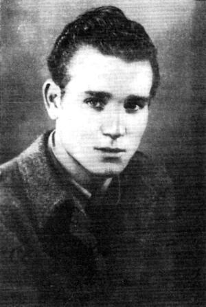 Juan Andrés Álvarez Ferreras cuando estaba prisionero de las tropas italianas (Rentería, 1939)