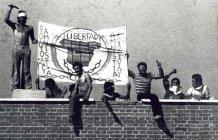 Conocida imagen de uno de los motines de COPEL en Carabanchel