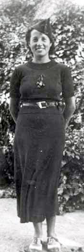 La miliciana Rosa Laviña