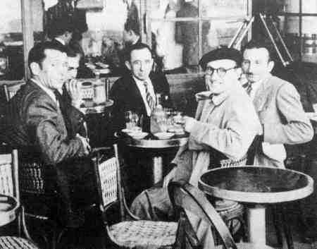 De izquierda a derecha: José Pérez Ibáñez, Jacinto Santaflorentina, Josep Pujol Grúa y Antonio Ortiz Ramírez (Tolosa, 1949)