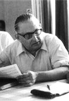 Julien Toublet en la IV Conferencia Internacional de Interlingua, celebrada entre el 24 y el 27 de julio de 1971 en Basilea (Suiza)