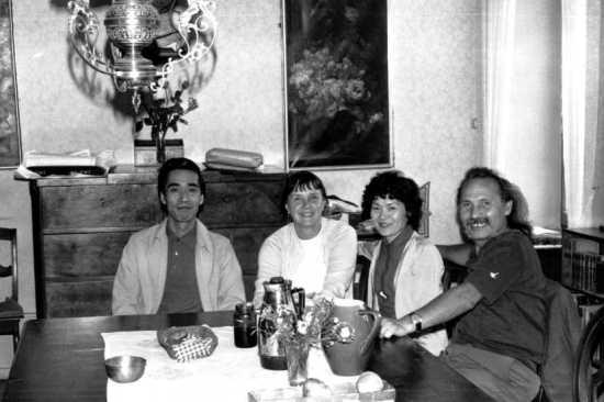 Maeda, Marie-Christine Mikhail, Fusako Hirayama y Franco Leggio