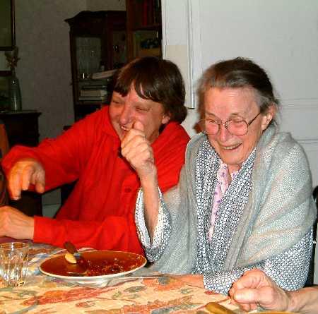 Marianne Enckell (izquierda) y Marie-Christine Mikhail (derecha)