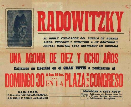 Mitin por Simón Radowitzky con la intervención de Aldo Aguzzi (Buenos Aires, 30 de noviembre de 1927)