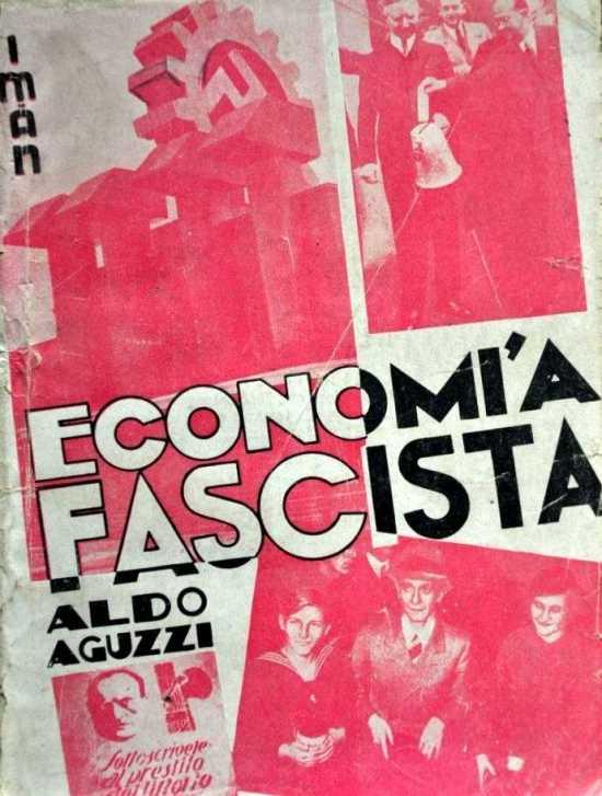 Portada del libro de Aldo Aguzzi Economía fascista (1935)