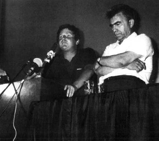 Daniel Cohn-Bendit y Alfonso Failla en el Congreso de Carrara (1968)